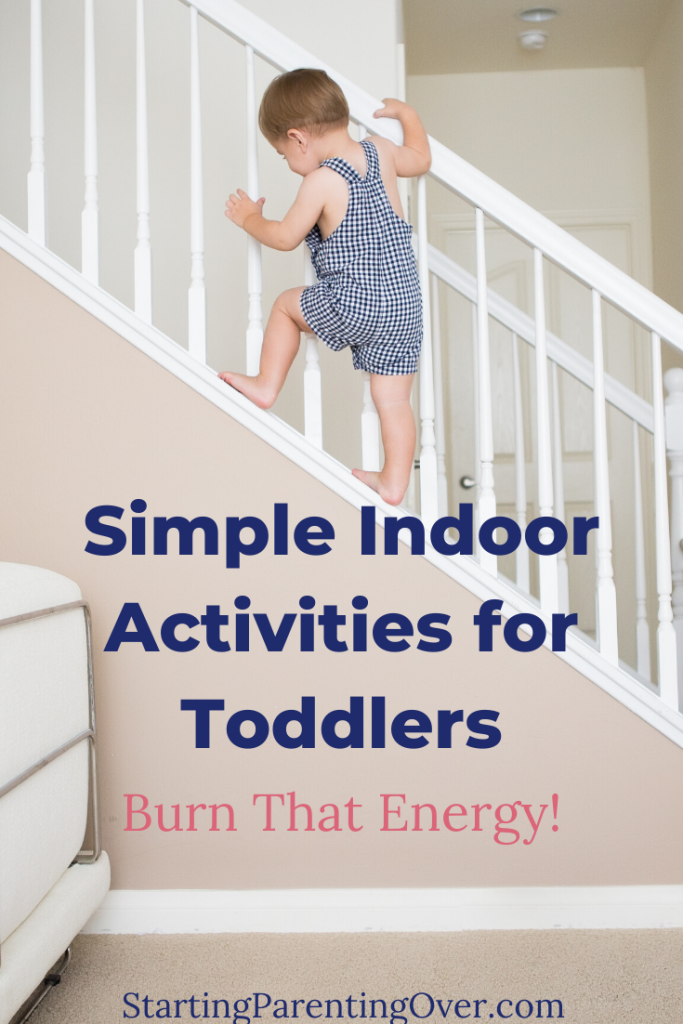 Check out these indoor activities for toddlers when you've been cooped up inside for far too long. Get them moving with no supplies or preparation needed!